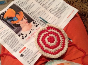 Tea Party Hat in progress.