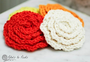 Flower Face Cleansing Pads /Scrubbies